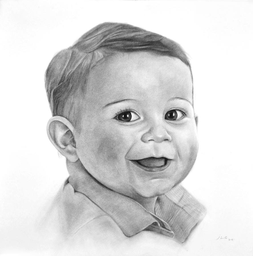 Retratos de bebés. Retratos al carboncillo. Galería del ...