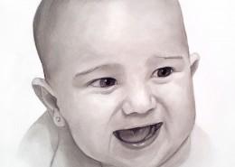 retrato-bebe-lapiz-carboncillo-blanco-y-negro